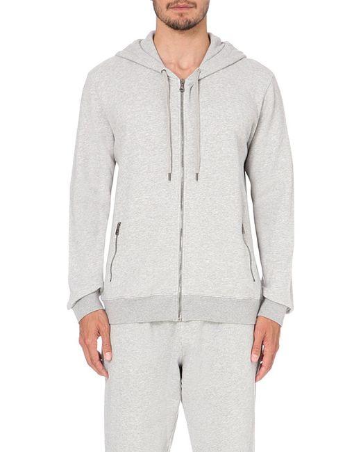 Derek Rose | Gray Devon Cotton-jersey Hoody for Men | Lyst