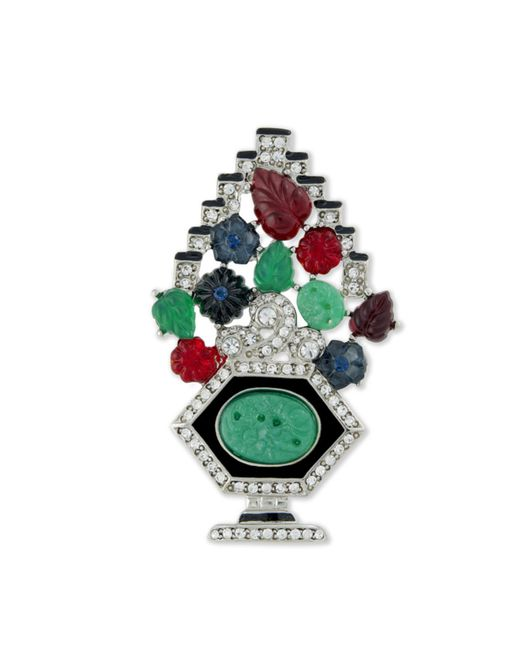 Kenneth Jay Lane | Multicolor Tutti Frutti Brooch | Lyst