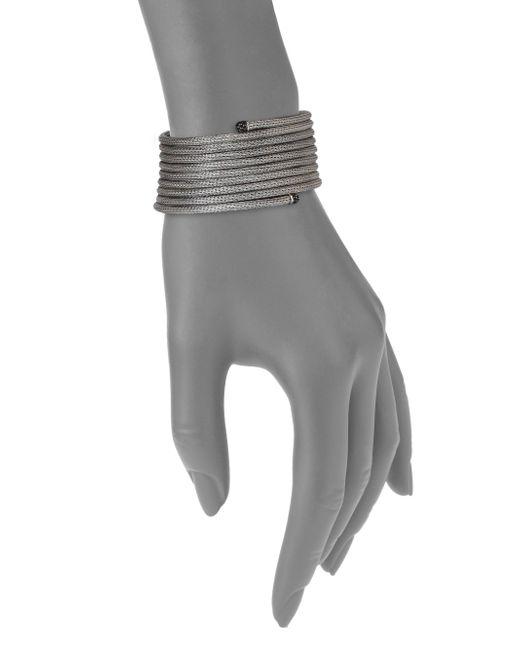 John Hardy | Metallic Classic Chain Black Sapphire & Sterling Silver Coil Large Multi-row Coil Bracelet | Lyst