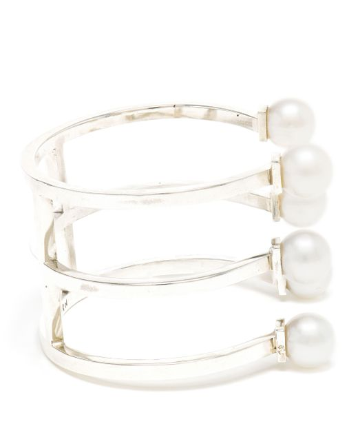 Maria Stern | Metallic Triple Pearl Horseshoe Bracelet | Lyst