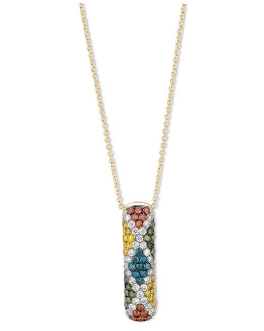 Le Vian | Metallic Multi-gemstone (1-1/5 Ct. T.w.) And Diamond (1/4 Ct. T.w.) Pendant Necklace In 14k Gold | Lyst