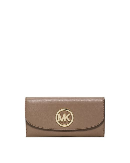 Michael Kors | Brown Fulton Carryall Leather Wallet | Lyst