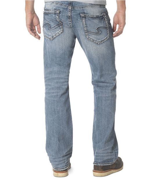 Mens Silver Jeans Zac