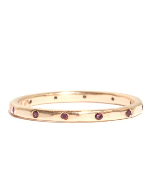 Melissa Joy Manning | Metallic 12 Ruby Wedding Band | Lyst