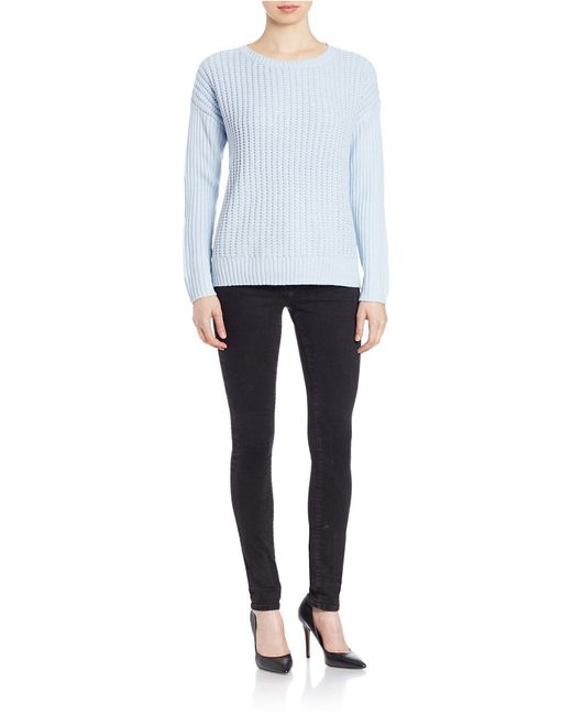 Lord & Taylor | Multicolor Plus Knit Crewneck Sweater | Lyst