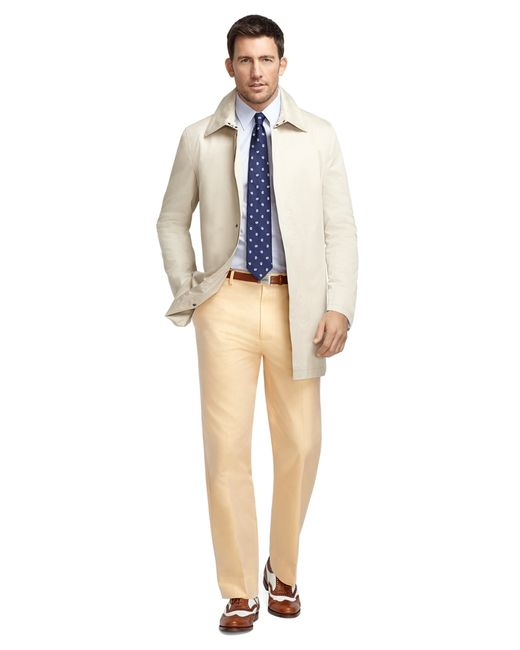 Brooks Brothers | Yellow Madison Fit Americana Plain-front Dress Trousers for Men | Lyst