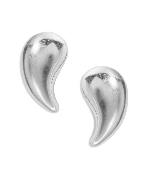 lord sterling silver teardrop stud earrings in