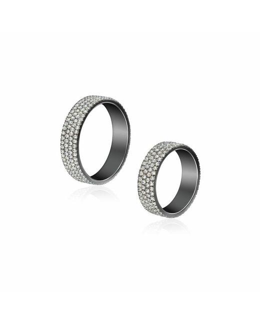 AS29 | Metallic Chain Me Pair Rings | Lyst