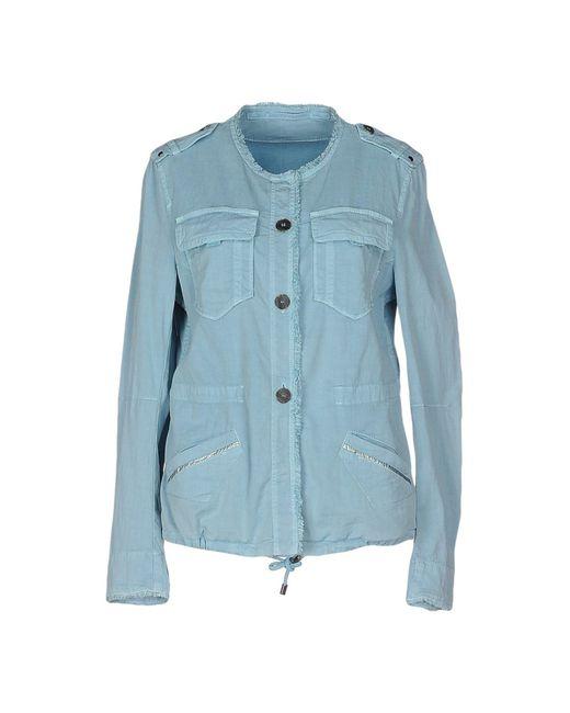marc cain jacket in blue sky blue save 56 lyst. Black Bedroom Furniture Sets. Home Design Ideas