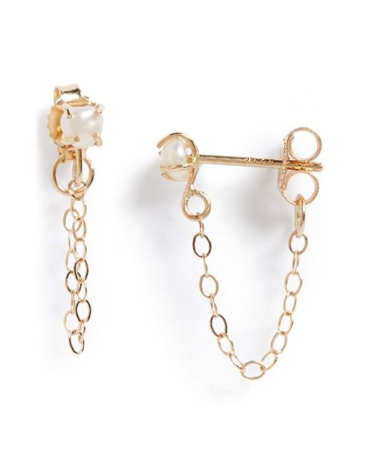Melissa Joy Manning | Metallic Keshi Pearl Ear Chains | Lyst