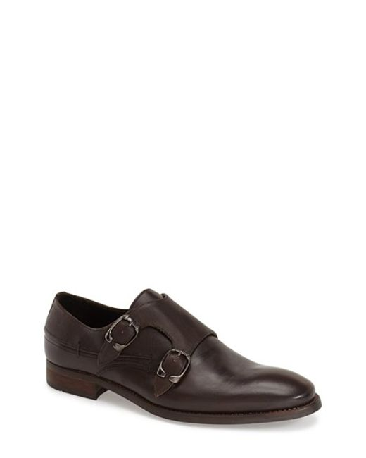 Bacco Bucci | Brown 'cosmos' Double Monk Strap Shoe for Men | Lyst