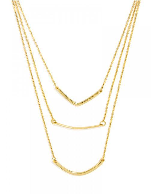 BaubleBar | Metallic Triple Linear Pendant-gold | Lyst