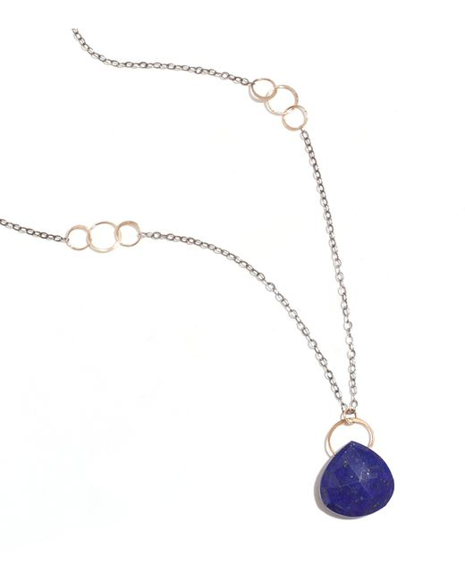 Melissa Joy Manning | Blue Lapis Gold And Oxidized Silver Necklace | Lyst