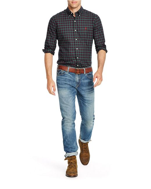 Polo Ralph Lauren   Green Men's Checked Twill Shirt for Men   Lyst