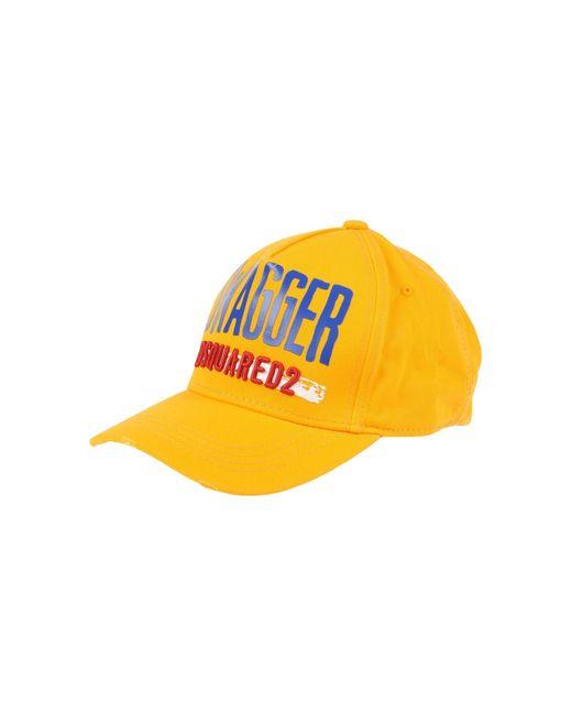 DSquared² | Orange Hat for Men | Lyst