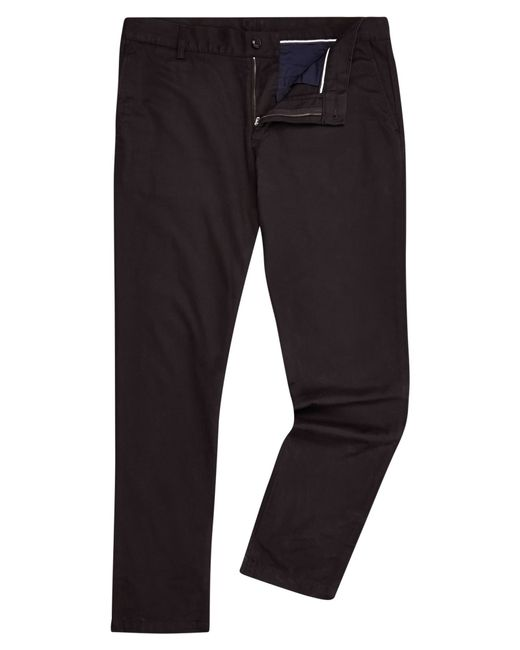 Lacoste | Black Slim Fit Trousers for Men | Lyst