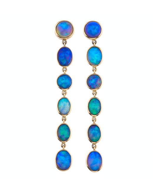 Katherine Jetter | Blue Graduated Opal Earrings | Lyst