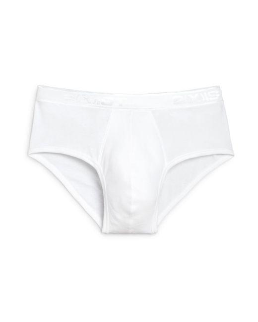 2xist | White Pima Cotton Contour Pouch Briefs for Men | Lyst