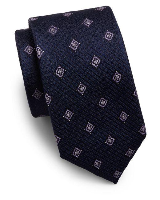 Saks Fifth Avenue | Blue Floating Floral Silk Tie for Men | Lyst