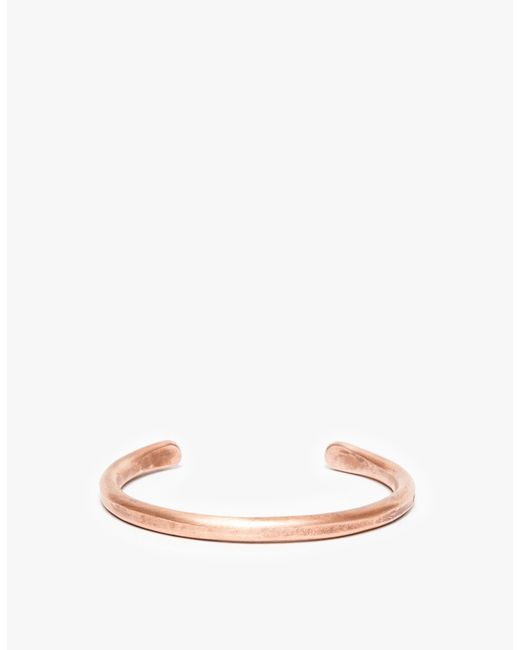 Cause and Effect | Metallic Thin Copper Bar Cuff for Men | Lyst