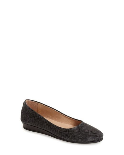 French Sole | Black 'zeppa' Lizard Embossed Leather Wedge | Lyst