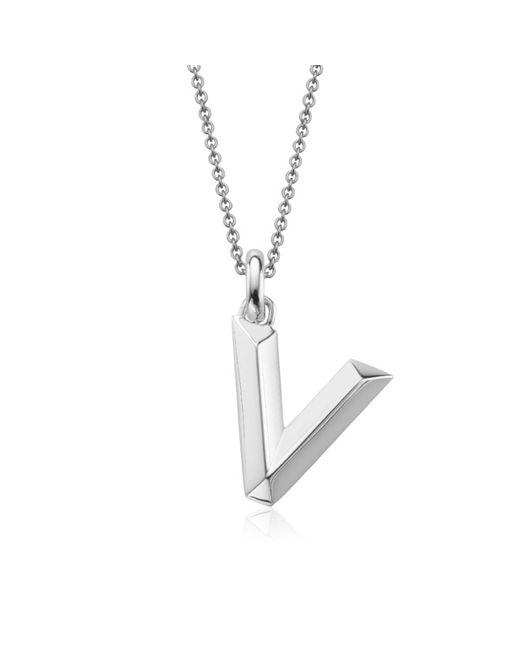 Monica Vinader | Metallic Alphabet Pendant V | Lyst
