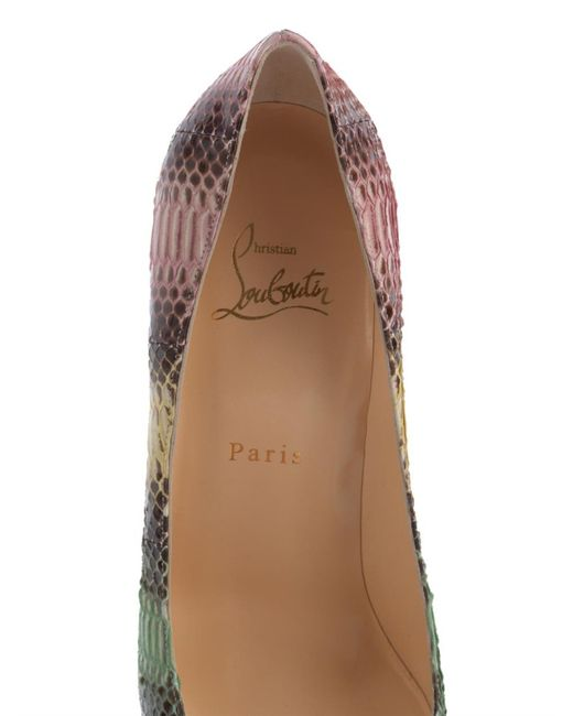 christian louboutin decollete patent 70mm red sole pump
