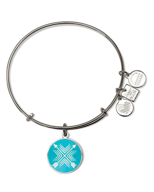 ALEX AND ANI | Metallic Arrows Of Friendship Expandable Wire Bangle, Charity By Design Collection | Lyst