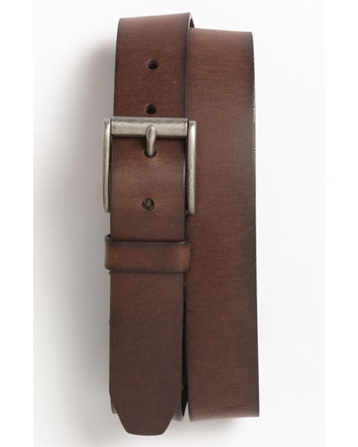fossil dacey leather belt in brown for brown