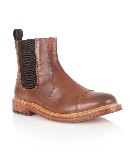 Lotus | Brown Lexton Slip On Casual Chelsea Boots for Men | Lyst
