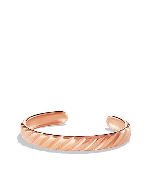 David Yurman | Pink Modern Cable Cuff Bracelet In 18k Rose Gold, 10mm for Men | Lyst