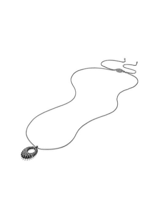 David Yurman | Metallic Tempo Pendant Necklace With Diamonds | Lyst