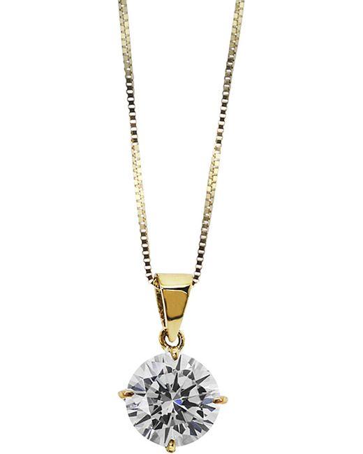 Carat* | Metallic Round 4 Prongs 1ct Solitaire Pendant Necklace | Lyst