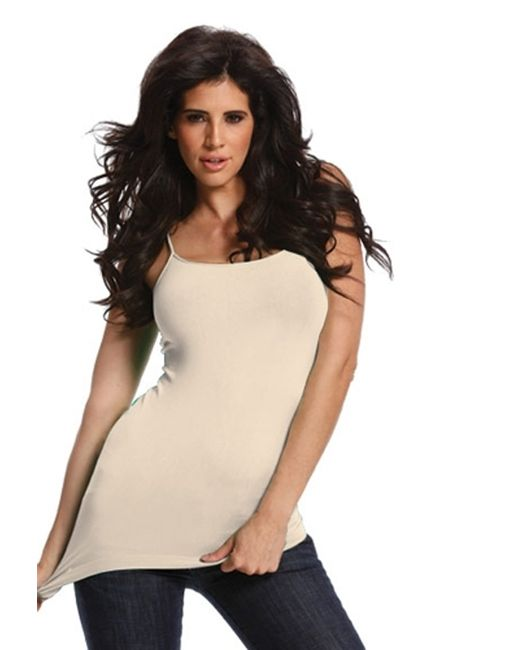 Tees by Tina | Pink Solid Camisole In Cream | Lyst