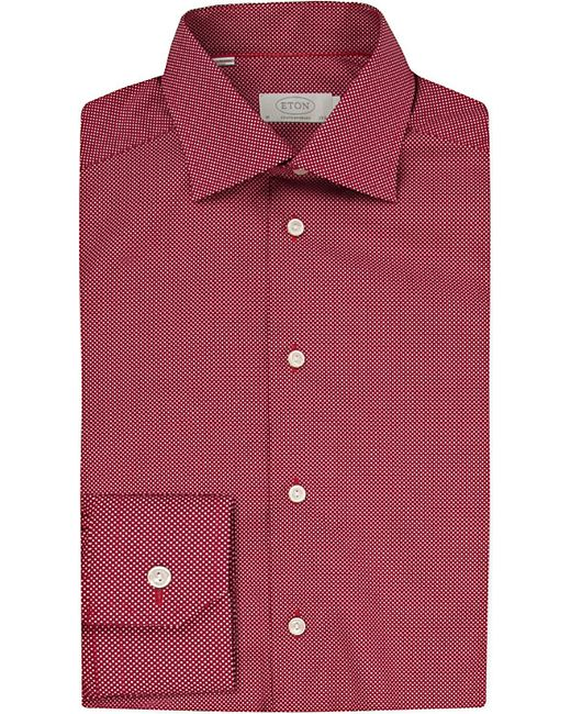 Eton of Sweden | Red Contemporary Fit Micro-dots Cotton Shirt for Men | Lyst