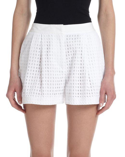 3.1 Phillip Lim | White Cotton Eyelet Shorts | Lyst