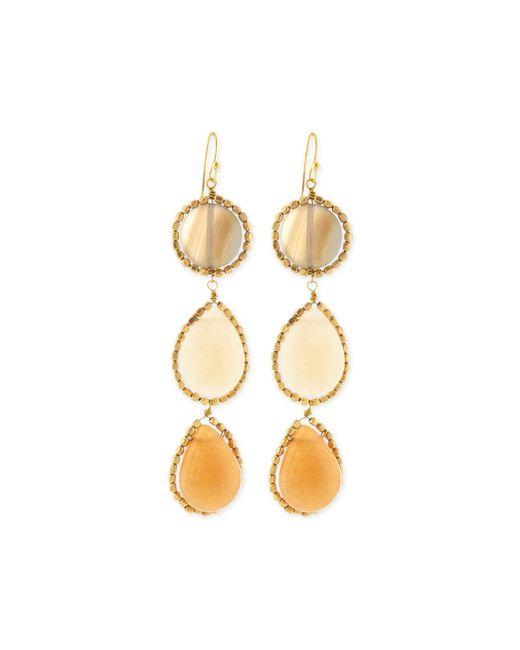Nakamol | Metallic Agate Triple Drop Earrings | Lyst