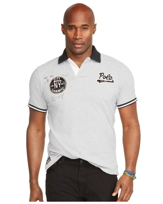 Polo ralph lauren big and tall custom fit mesh polo shirt for Big and tall custom polo shirts