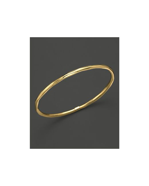 Ippolita | Metallic 18k Gold Glamazon Thin Faceted Bangle | Lyst