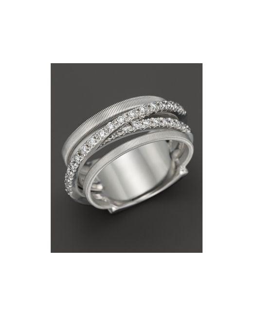 Marco Bicego   18k White Gold Goa Five Row Ring With Diamonds   Lyst