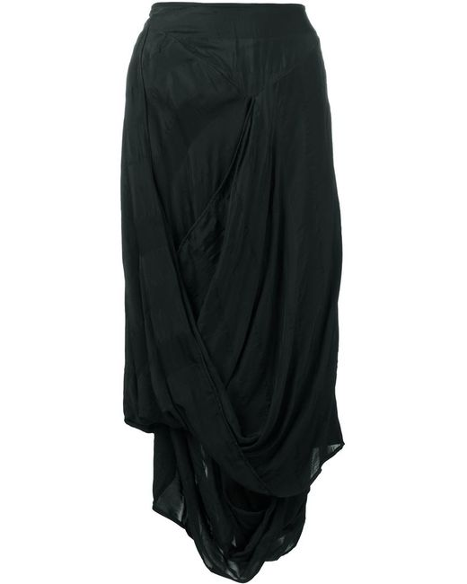 Vivienne Westwood Anglomania | Black Draped Midi Skirt | Lyst