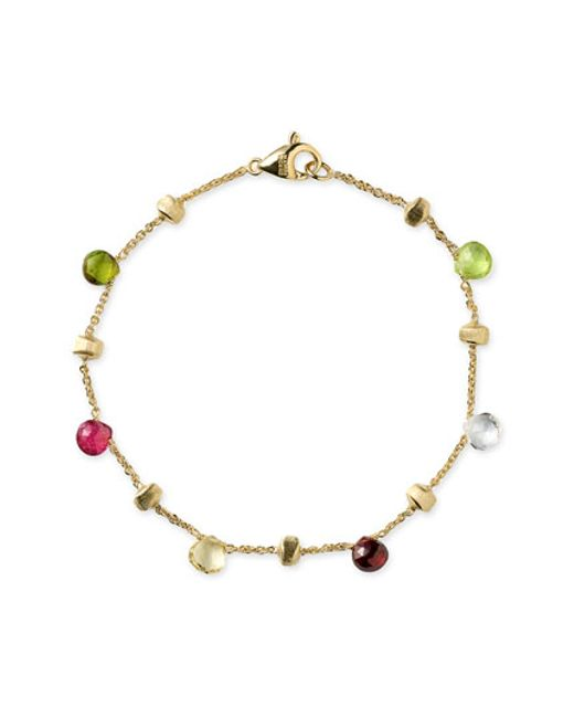 Marco Bicego | Multicolor 'paradise' Single Strand Bracelet | Lyst
