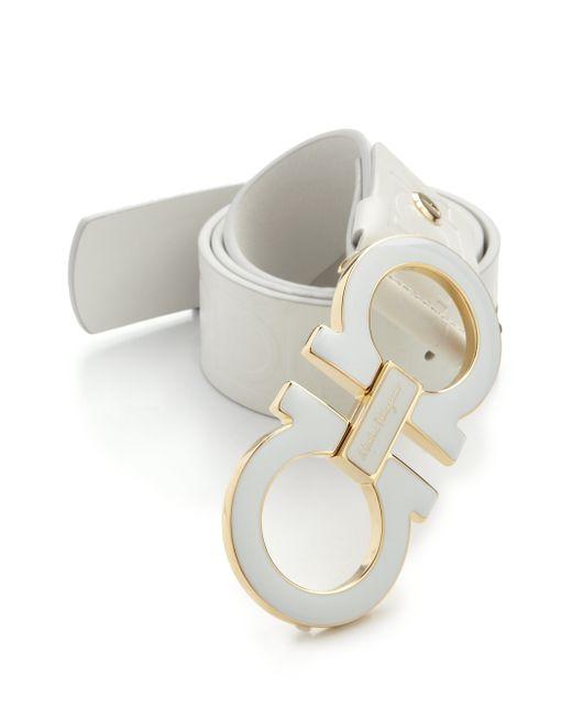 Ferragamo Mens White Shoes