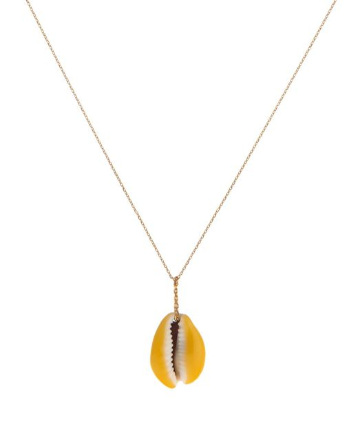 Aurelie Bidermann | Yellow Merco Shell And Gold Necklace | Lyst