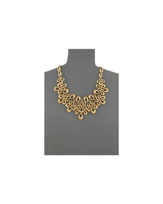 Oscar de la Renta | Metallic Teardrop Necklace | Lyst