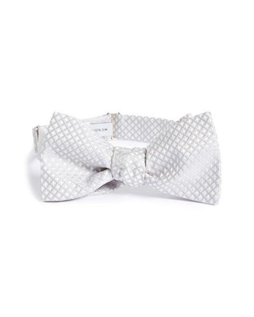 Robert Talbott   Metallic Paisley Check Bow Tie for Men   Lyst