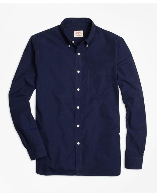 Brooks brothers indigo pique stitch sport shirt in blue for Brooks brothers sports shirts