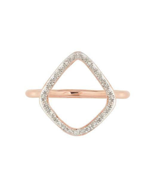 Monica Vinader | Pink Riva Diamond Hoop Ring | Lyst