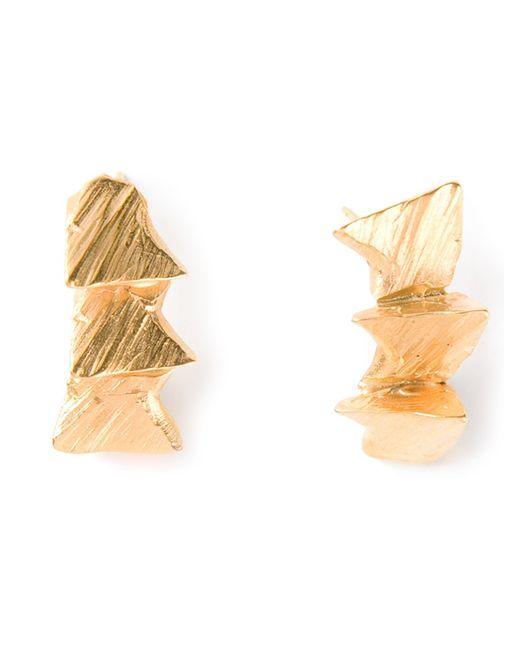 Imogen Belfield   Metallic 'Triple Star' Earrings   Lyst
