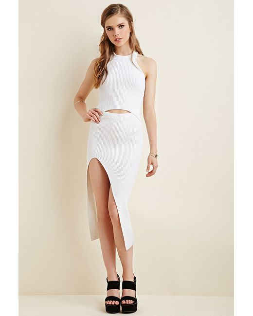 Forever 21 | White Maurie & Eve Ribbed Bodycon Dress | Lyst